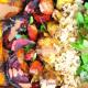 Roasted Veggie Tahini Quinoa Bowl